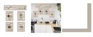 """Trendy Decor 4U Kitchen Friendship Collection II 5-Piece Vignette by Millwork Engineering, Sand Frame, 32"""" x 10"""""""