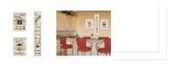"Trendy Decor 4U The Kitchen Collection I 3-Piece Vignette by Millwork Engineering, White Frame, 10"" x 32"""