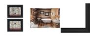 "Trendy Decor 4U Hot Bath 2-Piece Vignette by Linda Spivey, Black Frame, 18"" x 14"""