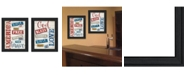 """Trendy Decor 4U American Collection By Marla Rae, Printed Wall Art, Ready to hang, Black Frame, 30"""" x 19"""""""