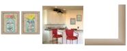 "Trendy Decor 4U Mason Jars I Collection By Debbie Strain, Printed Wall Art, Ready to hang, Beige Frame, 30"" x 19"""