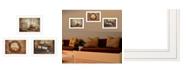 "Trendy Decor 4U Primitives Homestead 3-Piece Vignette by Robin Lee Vieira, White Frame, 21"" x 15"""