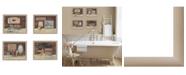 "Trendy Decor 4U BATHROOM COLLECTION I 4-Piece Vignette by Pam Britton, Taupe Frame, 17"" x 14"""