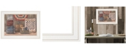 "Trendy Decor 4U God Bless America by Pam Britton, Ready to hang Framed Print, White Frame, 19"" x 15"""