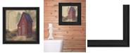 "Trendy Decor 4U Folk Art Outhouse By Pam Britton, Printed Wall Art, Ready to hang, Black Frame, 14"" x 14"""
