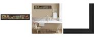"Trendy Decor 4U Country Bath Shelf By Pam Britton, Printed Wall Art, Ready to hang, Black Frame, 39"" x 9"""