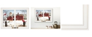 """Trendy Decor 4U Winter Friends by Billy Jacobs, Ready to hang Framed Print, White Window-Style Frame, 19"""" x 15"""""""