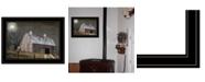 "Trendy Decor 4U Midnight Moon by Billy Jacobs, Ready to hang Framed Print, Black Frame, 19"" x 15"""