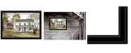 """Trendy Decor 4U Summer Afternoon by Billy Jacobs, Ready to hang Framed Print, Black Frame, 33"""" x 23"""""""