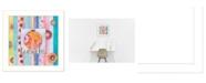 "Trendy Decor 4U Ladybug Hugs By Bernadette Deming, Printed Wall Art, Ready to hang, White Frame, 14"" x 14"""