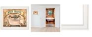 "Trendy Decor 4U Bath House by Becca Barton, Ready to hang Framed Print, White Frame, 13"" x 11"""