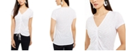 INC International Concepts INC Ruched-Front Top, Created For Macy's