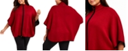 Anne Klein Plus Size Zip-Up Poncho Sweater