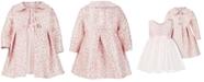 Bonnie Baby Baby Girls 2-Pc. Brocade Coat & Dress Set