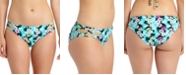 California Waves Juniors' Floral-Print Strappy Hipster Bikini Bottoms, Created for Macy's