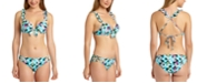 California Waves Floral Printed Ruffle Underwire Push-Up Bikini Top, Available in D/DD & Hipster Bottoms, Created for Macy's