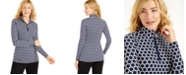 Charter Club Printed Half-Zip Top, Created for Macy's