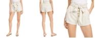 Rewash Juniors' Belted Paper-Bag Shorts