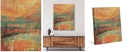 "Creative Gallery Madder Reeds Autumn Lake 24"" x 20"" Canvas Wall Art Print"