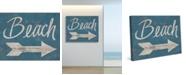 "Creative Gallery Beach Sign This Way 24"" x 20"" Canvas Wall Art Print"