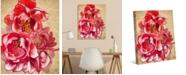 "Creative Gallery Crimson Flowering Quince 36"" x 24"" Canvas Wall Art Print"