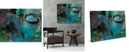 """Creative Gallery Turquoise Painted Buddha Abstract 36"""" x 24"""" Canvas Wall Art Print"""