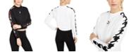Puma Women's Cotton Printed-Sleeve Sweatshirt