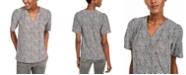 Michael Kors Printed Pleated Top, Regular & Petite Sizes