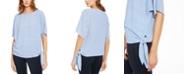 Michael Kors Striped Side-Tie Top, Regular & Petite Sizes