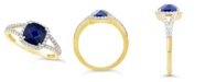 Macy's Created Sapphire (2 ct. t.w.) and Created White Sapphire (1/4 ct. t.w.) Ring in 10k Yellow Gold