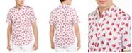INC International Concepts INC Men's Broken Heart Print & Striped Short Sleeve Shirt, Created For Macy's