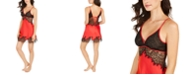 INC International Concepts INC Women's Satin Lace Chemise Nightgown, Created For Macy's
