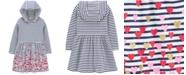 Carter's Toddler Girls Hooded Striped Heart-Print Jersey Dress