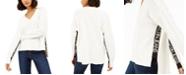 Calvin Klein Jeans Logo-Trim High-Low Sweater