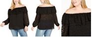 Michael Kors Plus Size Burnout Off-The-Shoulder Top