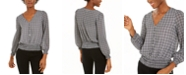 Michael Kors Printed Smocked Blouse, Regular & Petite