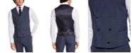 Lauren Ralph Lauren Men's Classic-Fit UltraFlex Navy Windowpane Suit Separate Vest