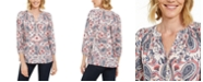 Charter Club Petite Smocked-Neck Top, Created for Macy's