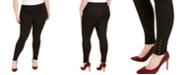INC International Concepts INC Plus Size Ponté-Knit Ankle Grommet Leggings, Created For Macy's