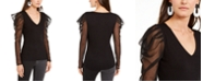 INC International Concepts INC Illusion-Sleeve Top, Created For Macy's