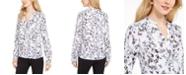 Karl Lagerfeld Paris Floral-Print Button-Down Blouse