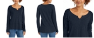Style & Co Split-Neck Tunic, Created for Macy's