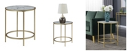 Convenience Concepts Gold Coast Deluxe Faux Marble Round End Table