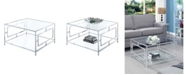 Convenience Concepts Town Square Chrome Square Coffee Table