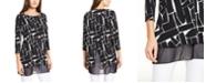 Alfani Printed Mesh-Hem Tunic, Created for Macy's