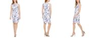 Calvin Klein Petite Floral-Print Sleeveless Sheath Dress