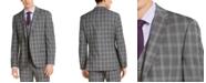 Alfani Men's Slim-Fit Stretch Gray Plaid Suit Jacket, Created for Macy's