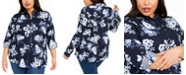 Charter Club Plus Size Printed Shirt, Created for Macy's