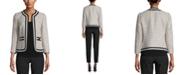 Anne Klein Knit-Trim Tweed Jacket