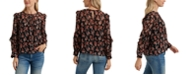Lucky Brand Georgette Ruffled Floral-Print Top